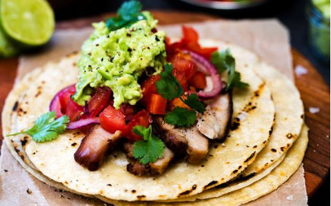 BBQ Pork belly tortilla