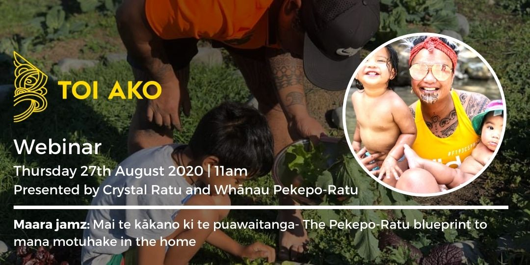 Toi Ako Webinar featuring Crystal Pekepo